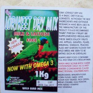 Lorikeet Dry  Mix 1Kg